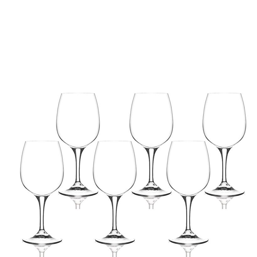 Ly rượu vang pha lê RCR Crystal Daily 580ml (bộ 6)