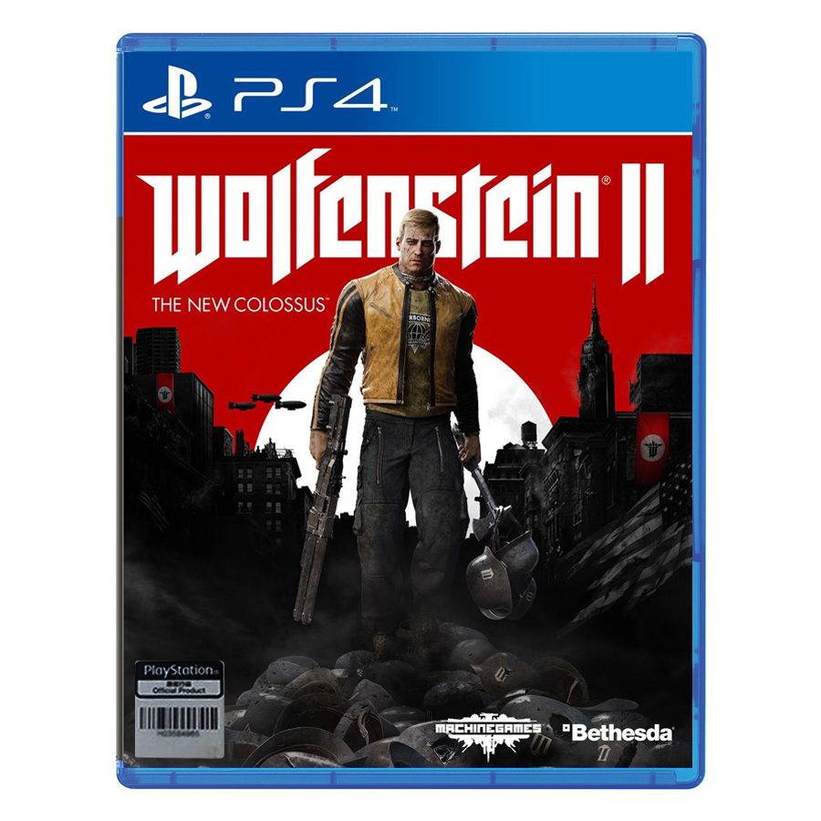 Đĩa Game PlayStation PS4 Sony Wolfenstein 2: The New Colossus Hệ Asia