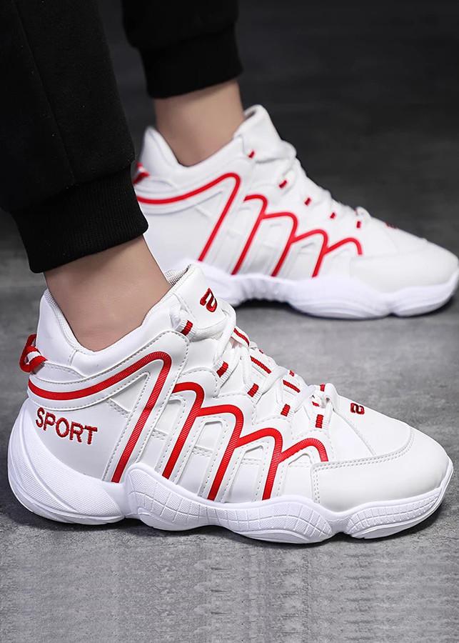Giày Thể Thao Da Sport Phối Màu Cá Tính