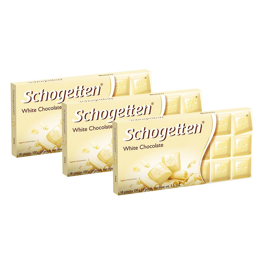 Combo 3 Thanh Sôcôla Ludwig Schokolade 13 Vị Schogetten - Trắng (100g)