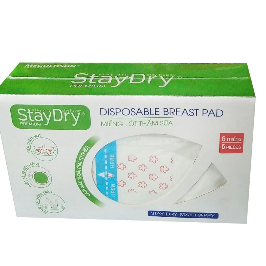 Miếng lót thấm sữa StayDry Premium (6 miếng/hộp)