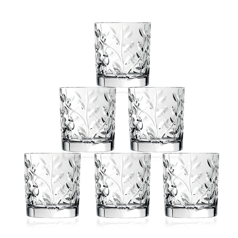 Ly rượu pha lê RCR Crystal Laurus 330ml (bộ 6)