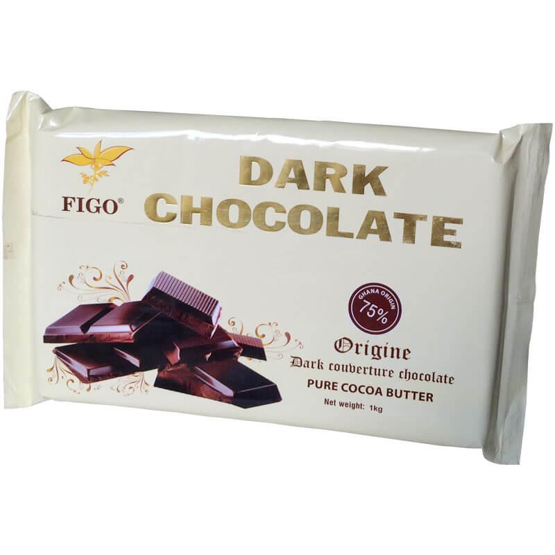 Socolate đen làm bánh 75% cacao Figo 1kg