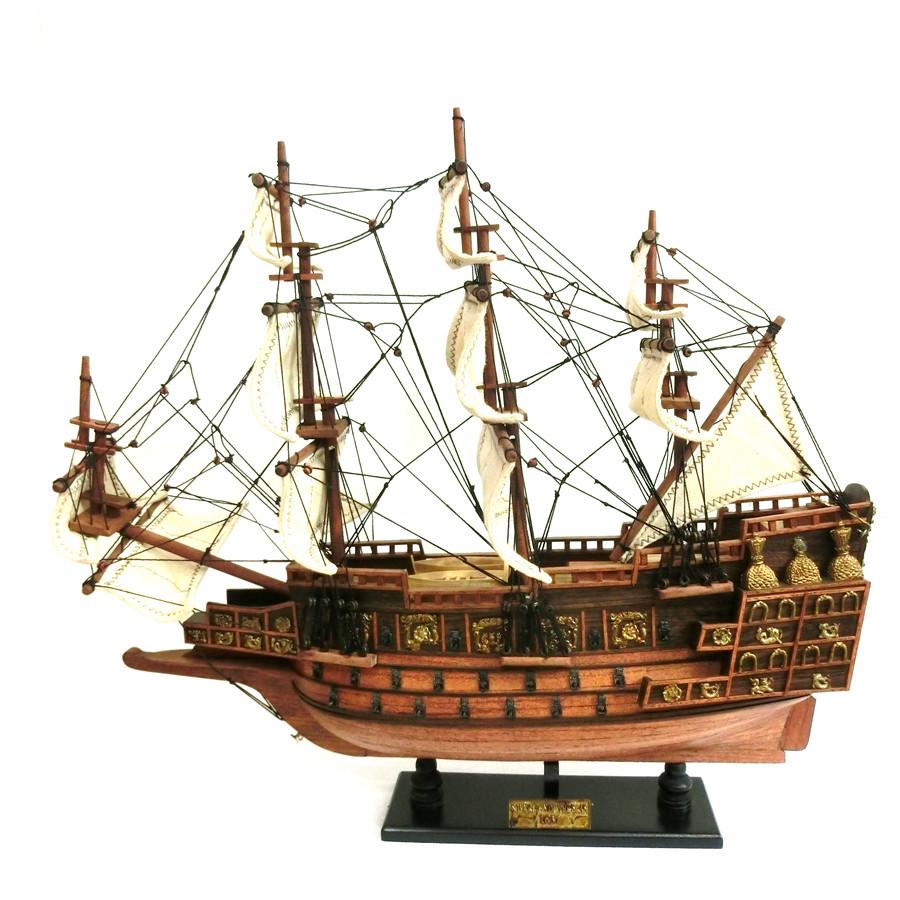 Mô hình thuyền gỗ chiến cổ Sovereign Of The Seas (thân 50cm - gỗ tự nhiên)
