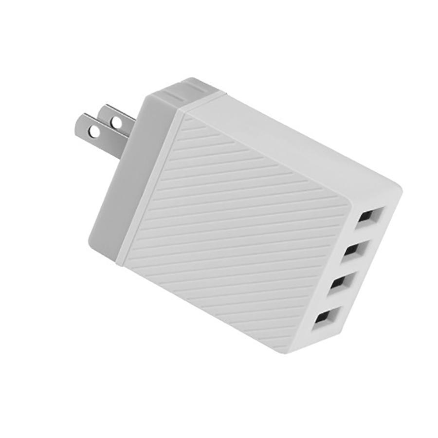 Sạc Hoco PowerPort 4 cổng 17W US có PowerIQ (Trắng) - hãng phân phối chính thức PKV