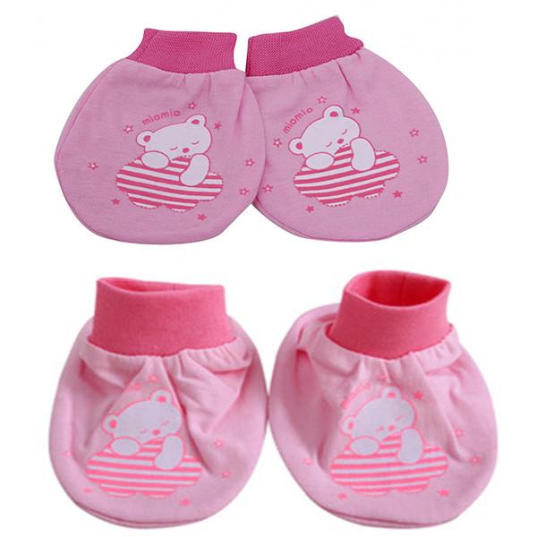 Set 5 đôi bao tay + 5 đôi bao chân bo gấu MIOMIO cho bé gái