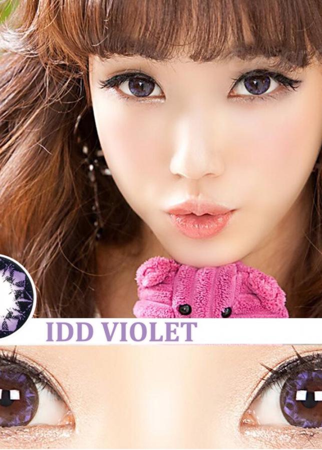 Kính Áp Tròng Hera IDD Violet 0 Độ