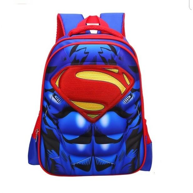 Balo bé trai tiểu học in hình 3D nổi nhân vật siêu anh hùng