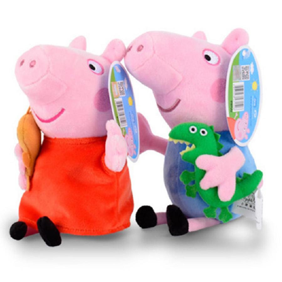 Chú Lợn Nhồi Bông Peppa Pig - 30 cm (Màu Ngẫu Nhiên)