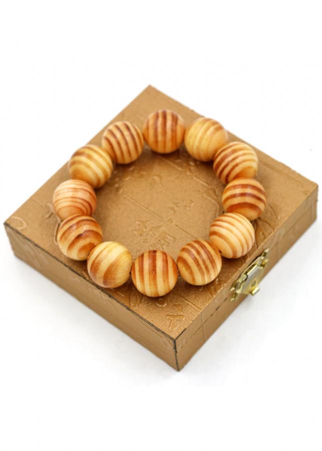 Vòng tay chuỗi hạt gỗ Huyết rồng 20 ly 12 hạt kèm hộp gỗ