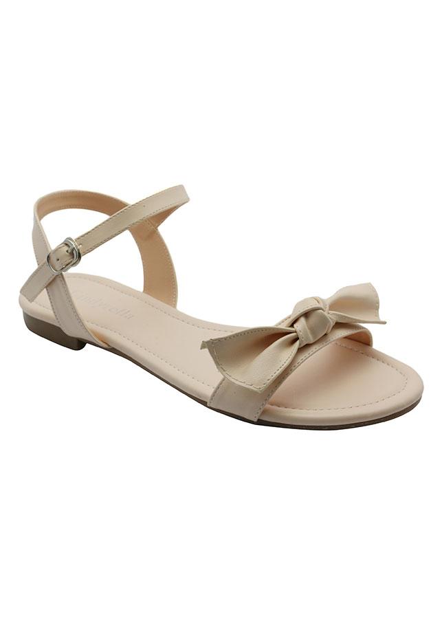 Giày Sandal Nữ Cindydrella A27K - Kem