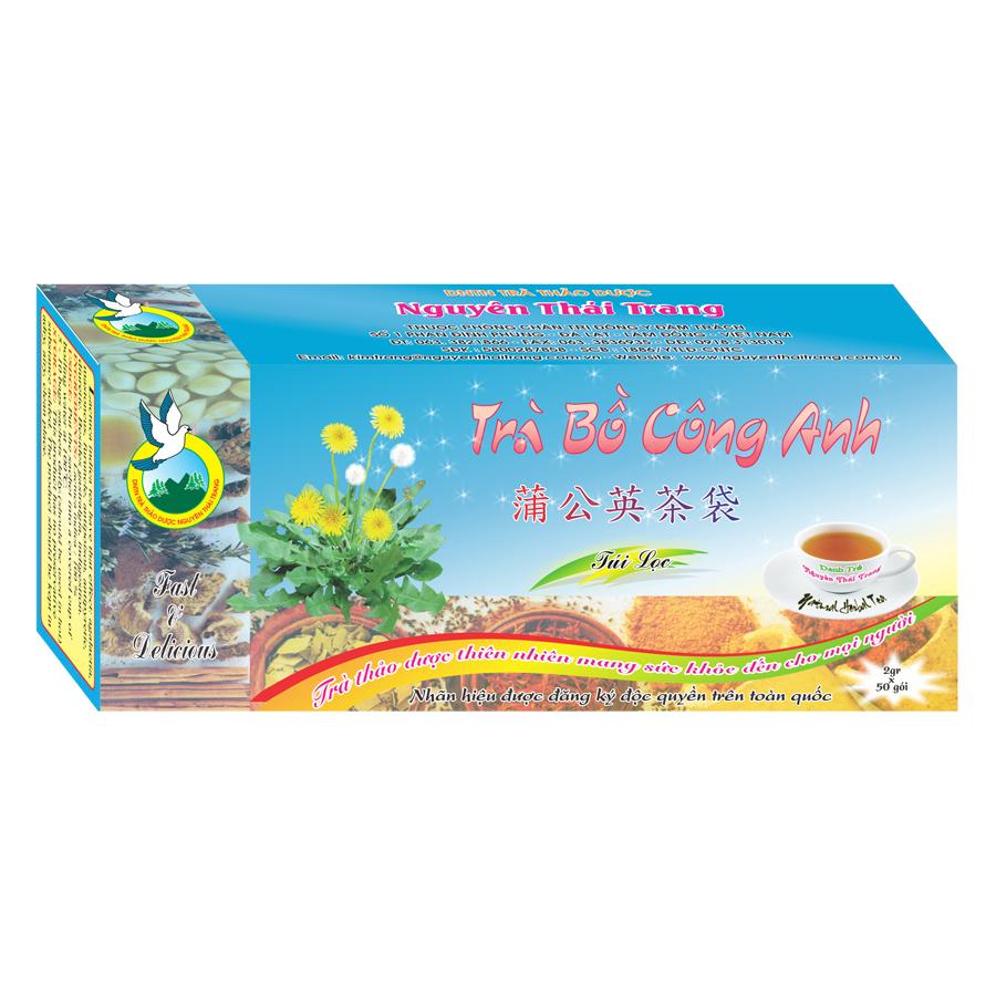 Trà Bồ Công Anh Thanh Nhiệt Giải Độc Nguyên Thái Trang (2g x 50 Gói)