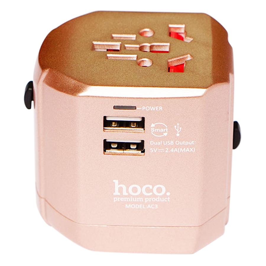 Adapter SạcĐaNăng Đa Chấu USB Hoco AC3