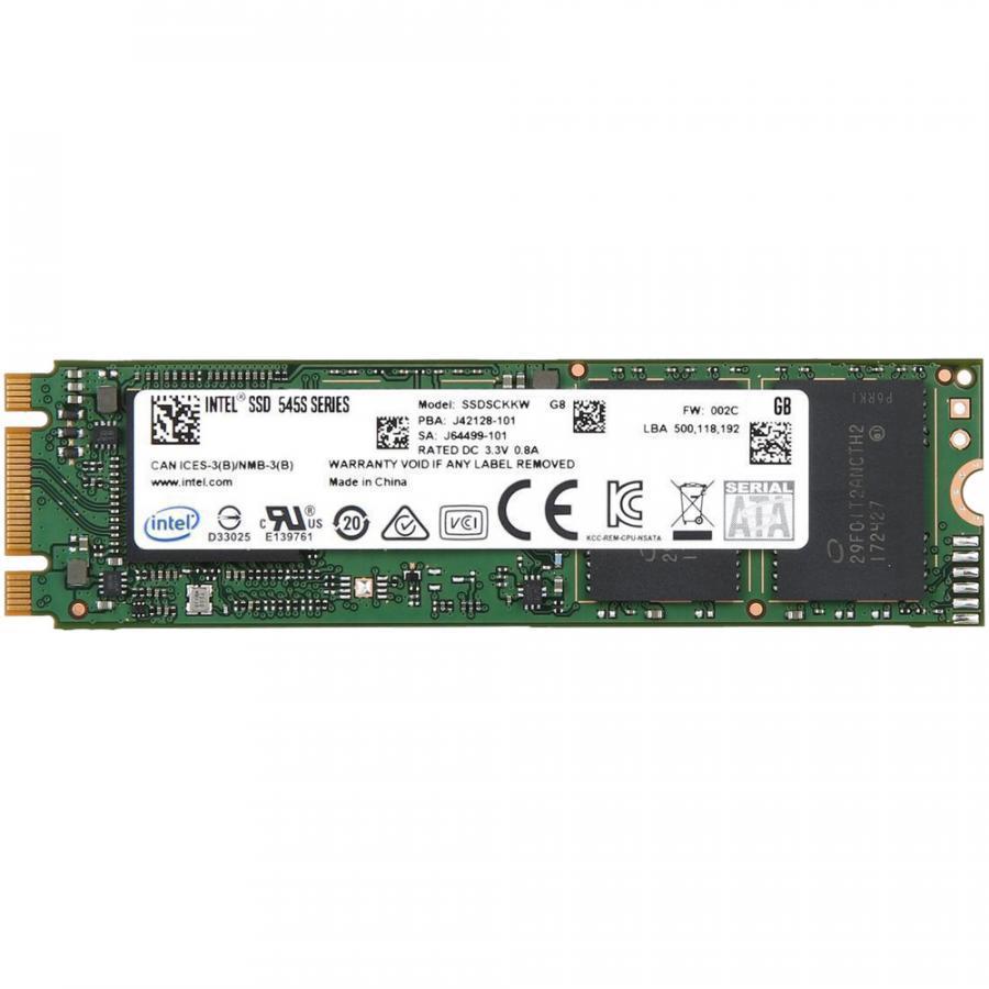Ổ cứng SSD Intel 545s Series M.2 2280 Sata III 512GB 3D-NAND 64-Layer - Hãng Chính Hãng