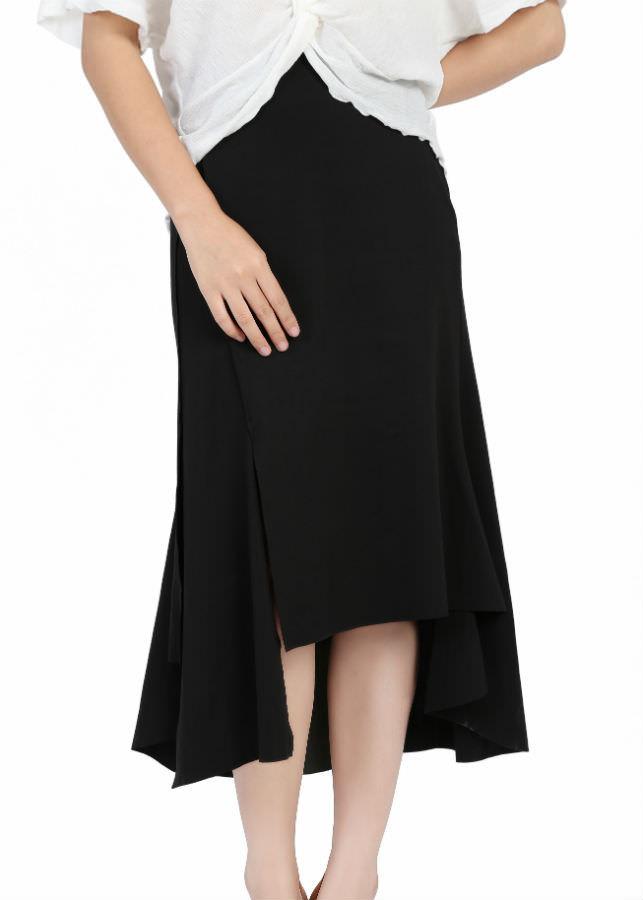 Chân Váy Nữ Xòe Xẻ Meein MI-CV1025-1 - Đen (Size L)