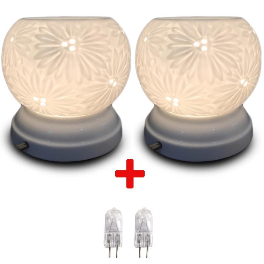 Combo 2 đèn xông tinh dầu MNB21 và 2 bóng đèn