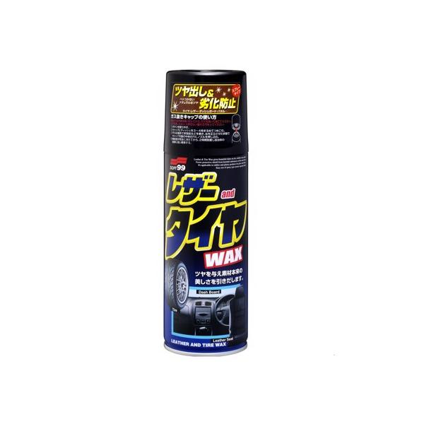 Chai Xịt 3 Trong 1 Leather  Tire Wax L-29 | Soft99