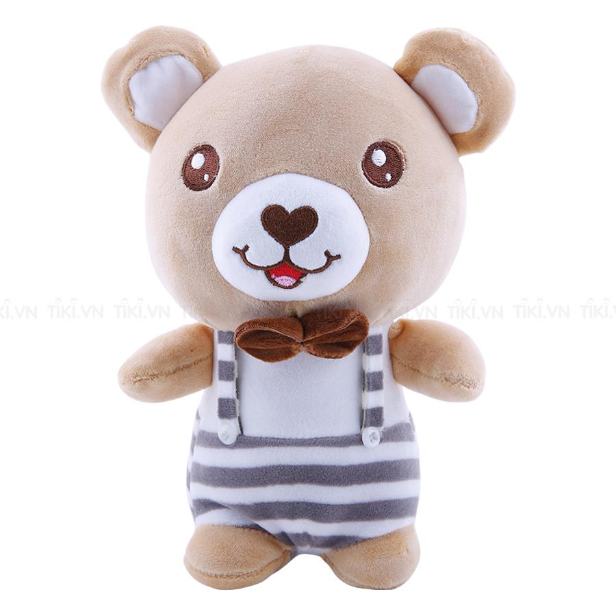 Gấu Đầm Mũi Thêu Tim Thanh Trà