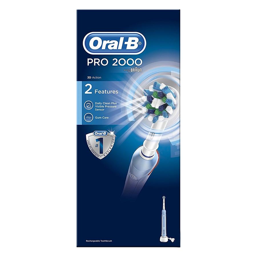 Bàn Chải Đánh Răng Điện Oral-B Pro 2000 D501.513.2