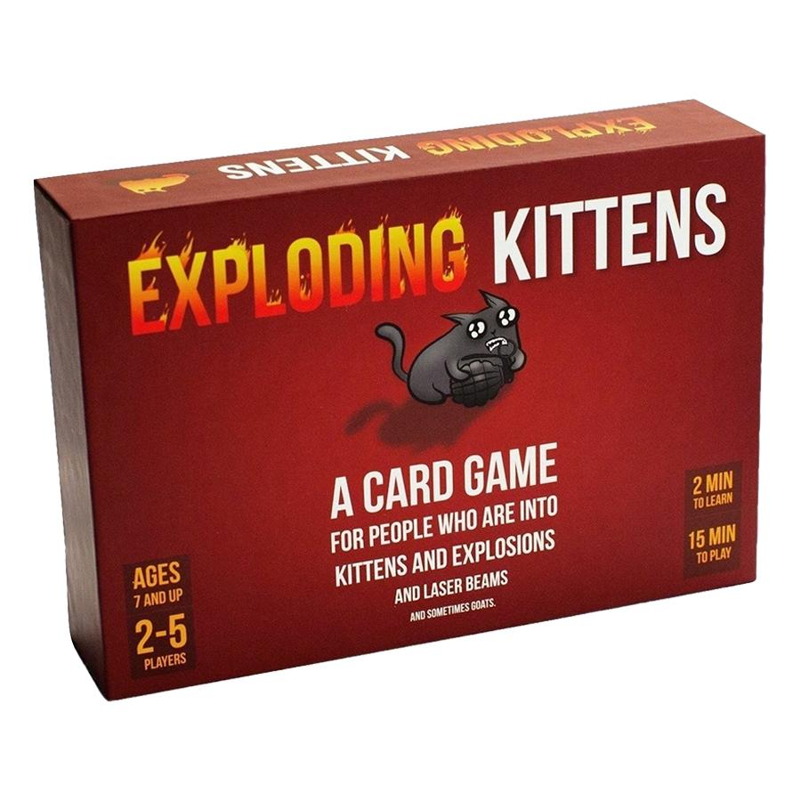 Exploding Kittens - Mèo Nổ Đỏ Cơ Bản