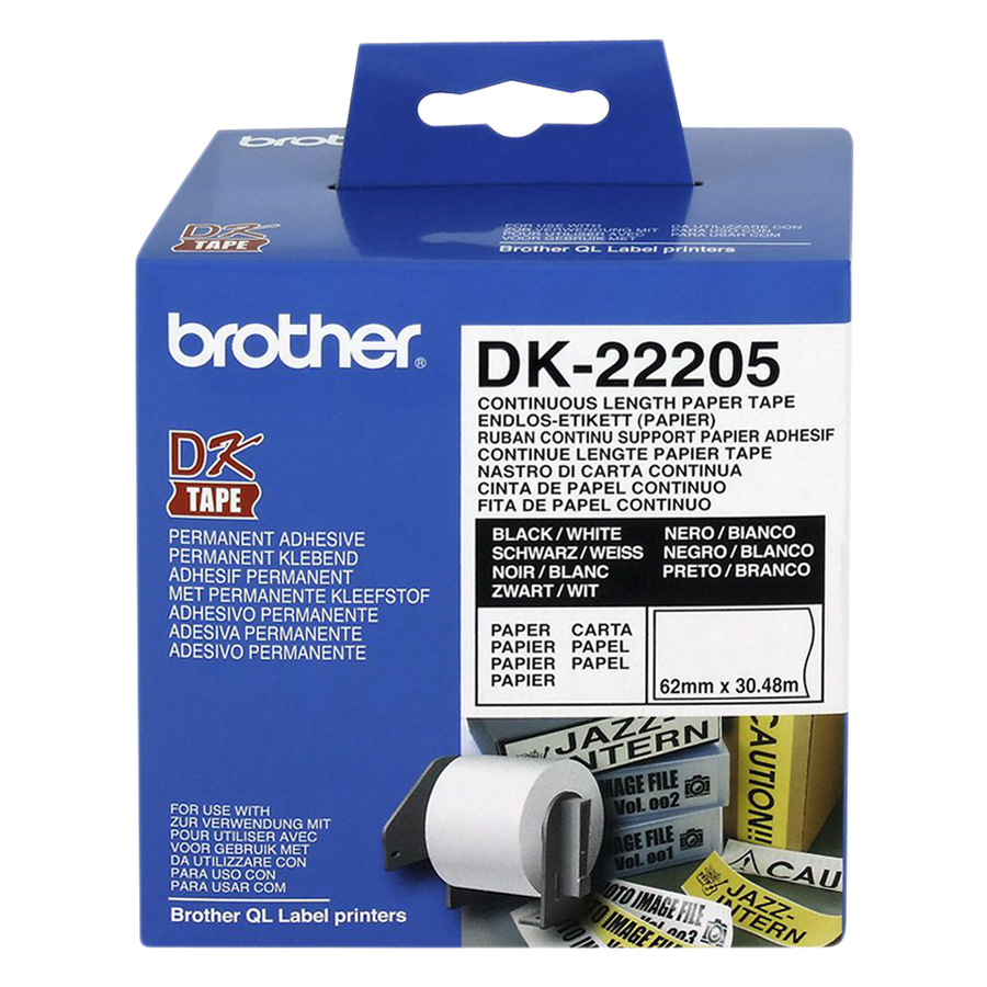 Giấy In Nhãn Liên Tục Brother DK-22205 (62mm x 30m)