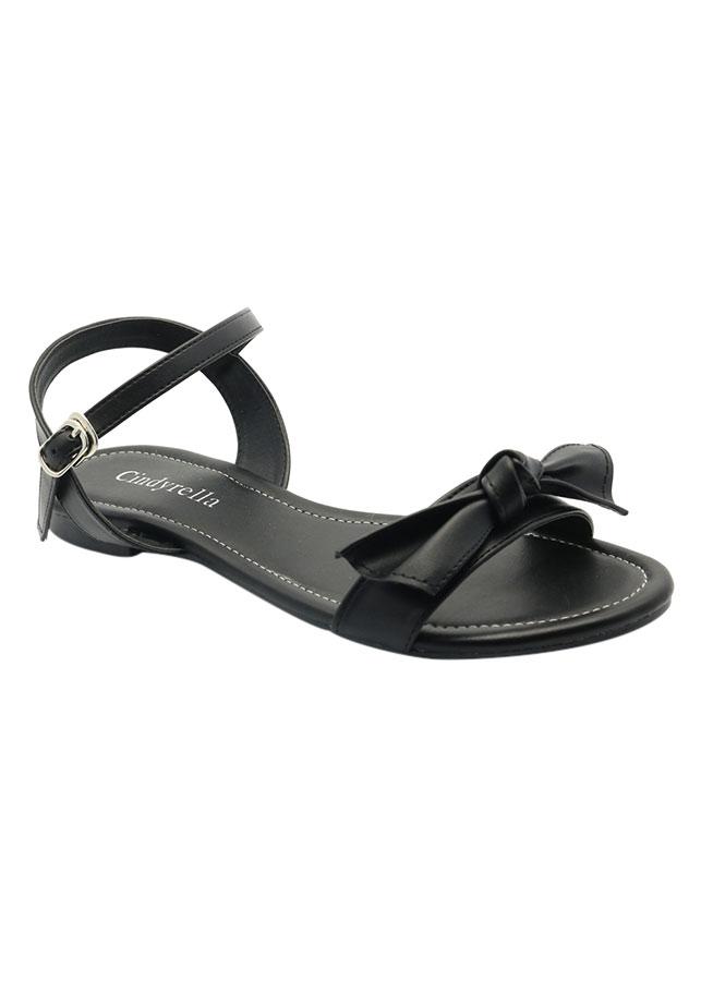 Giày Sandal Nữ Cindydrella A27D - Đen