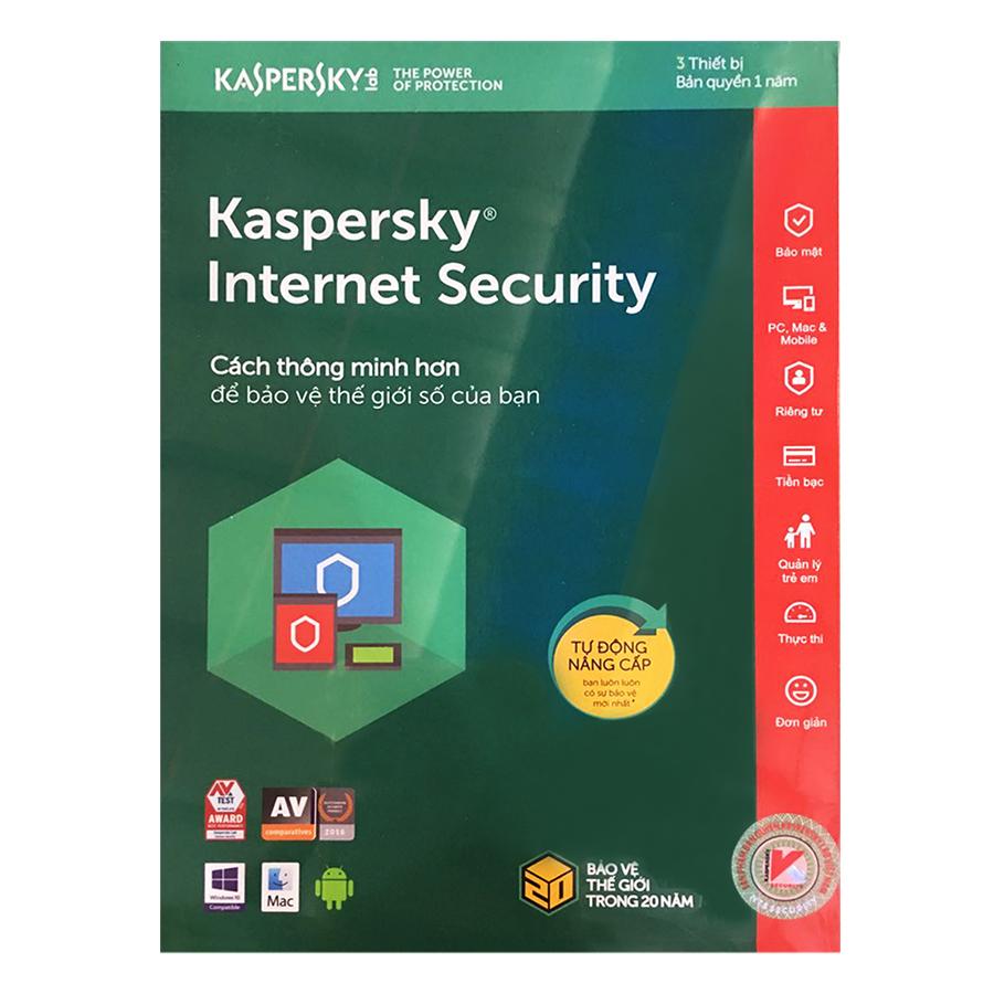 Kaspersky Internet Security Cho 3 Máy Tính - KIS3U