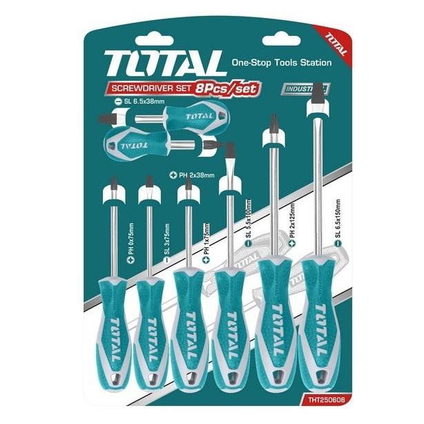 Bộ 8 tua vít Total THT250608