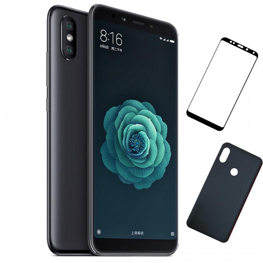 Bộ Điện thoại Xiaomi Mi 6X (32GB/4GB) (Đen) + Dán cường lực 5D full màn (Đen) + Ốp lưng - Hàng nhập khẩu