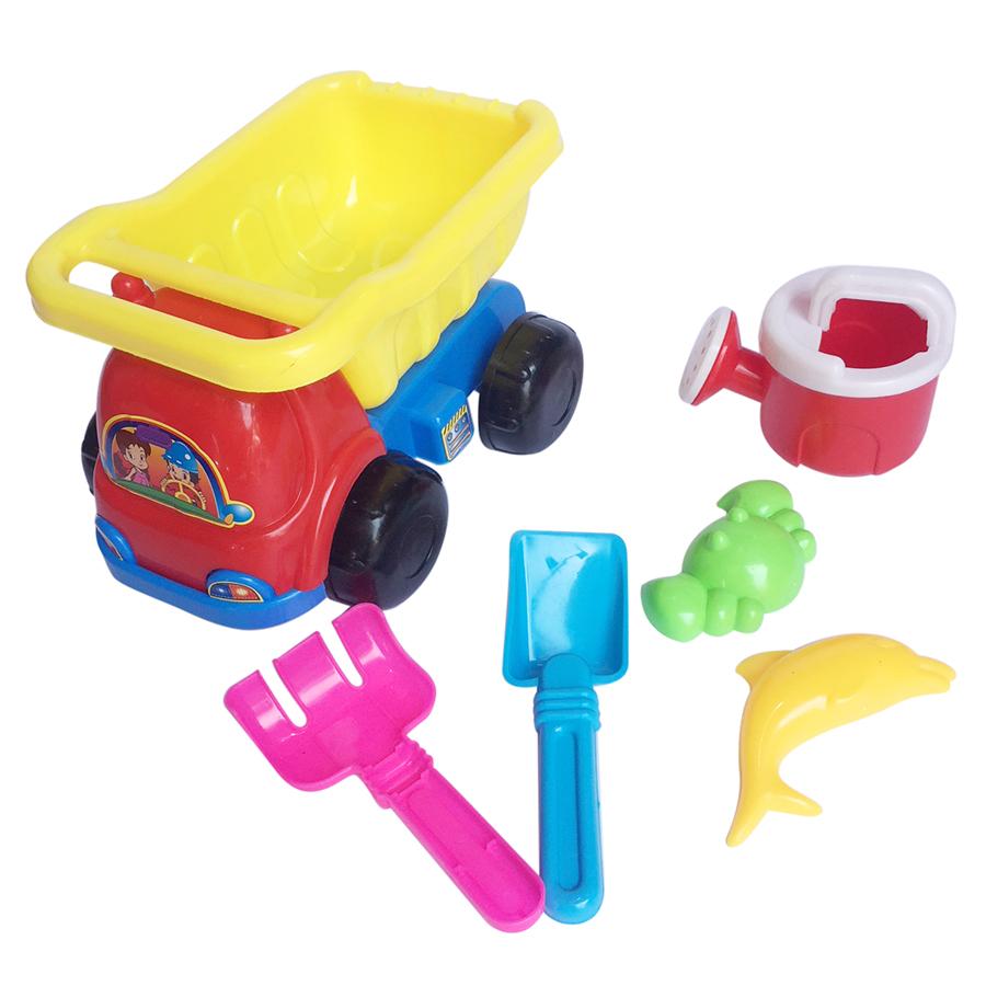Bộ đồ chơi xúc cát ô tô 6 món