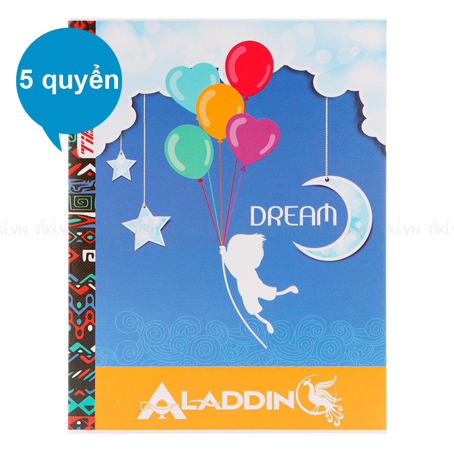 Lốc 5 Quyển Tập Dream TIE TDR-026 Kẻ Ngang 4 Ly 200 Trang - Mẫu Ngẫu Nhiên