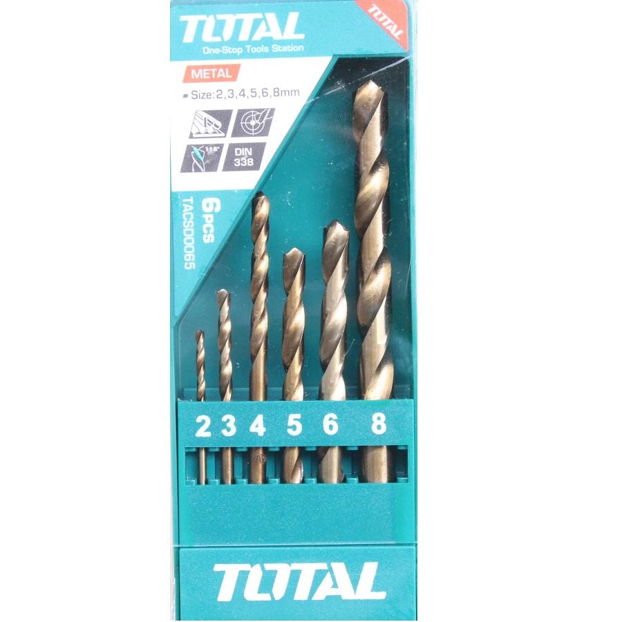 Bộ mũi khoan kim loại HSS 6 chi tiết Total - TACSD0065
