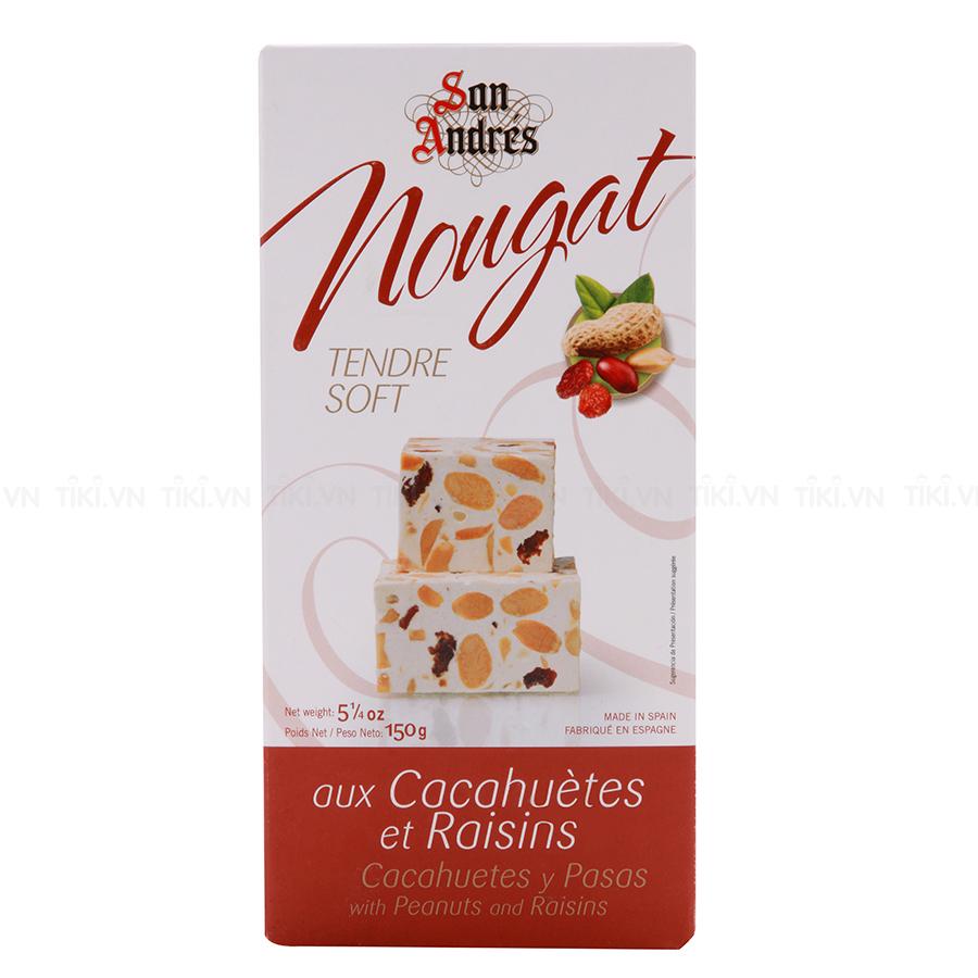 Kẹo Nougat Đậu Phộng Và Nho Khô San Andres (150g)
