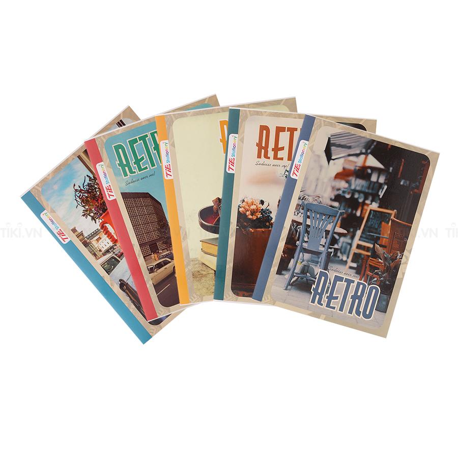 Lốc 5 Quyển Tập Retro TIE TRO-028 Kẻ Ngang 4 Ly 200 Trang - Mẫu Ngẫu Nhiên