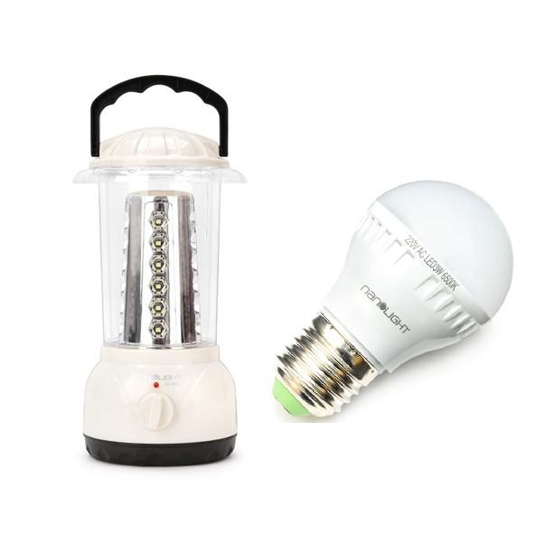 Combo Đèn Lồng Led Sạc Nanolight LL-002 và Bóng đèn LED Nanolight LED 5W