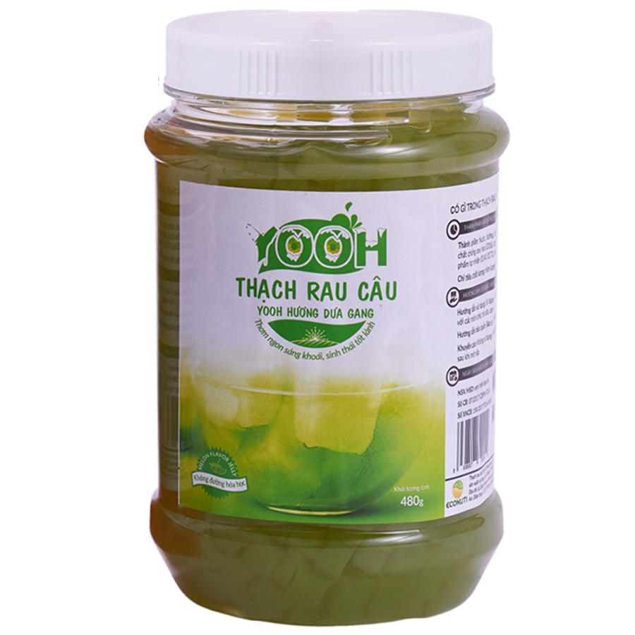 Thạch rau câu trà sữa YOOH - Vị Dưa gang 480g