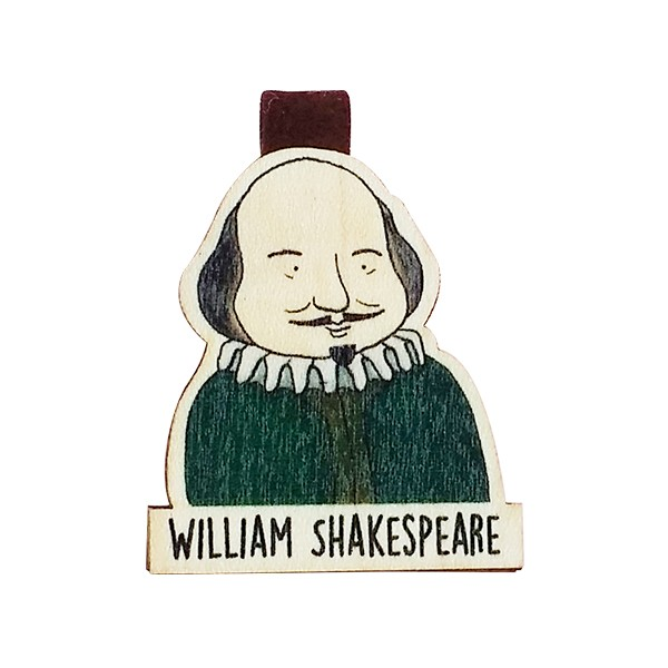 Bookmark gỗ nam châm William Shakespeare