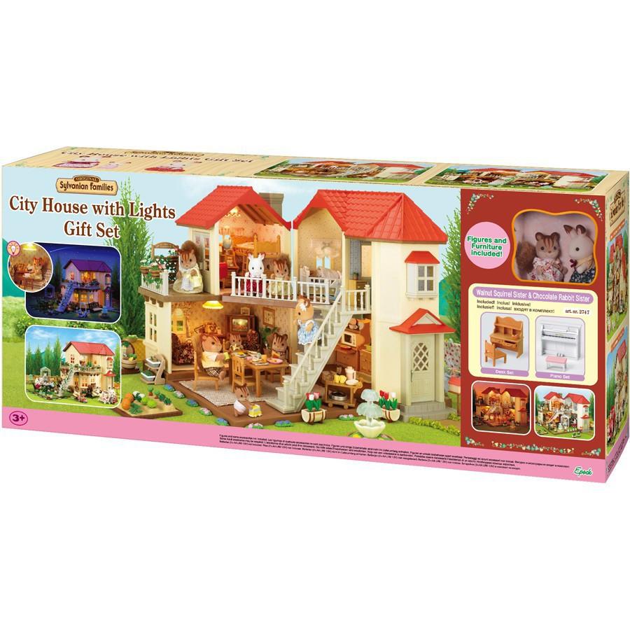 Sylvanian Families - Bộ Nhà Phố Sáng Đèn E (Gift Set) EP2747 Golden Kid