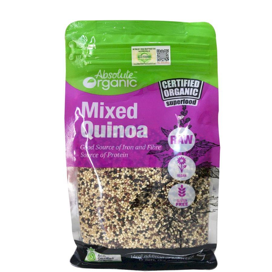 Hạt Diêm Mạch Hữu Cơ Úc Mix 3 Màu (Quinoa Mix Túi 400gram)
